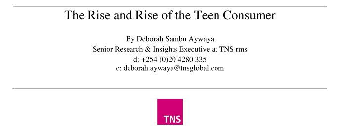 MSRA Presentation: The Rise and Rise of the Teen Consumer