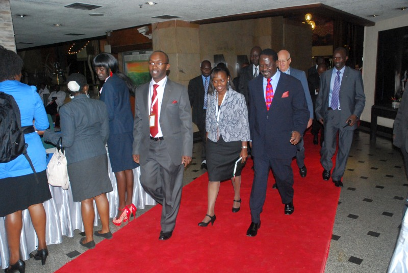 MSRA Conference 2012 - Hon Prime Minister Raila Odinga exits conference after his speech