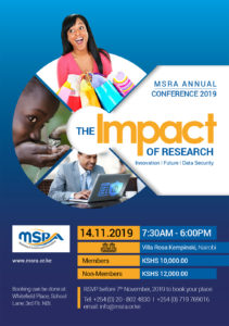 MSRA Annual Conference 2019 flyer