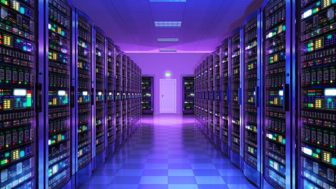 A modern server room datacenter
